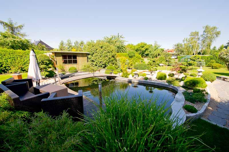 Koihaltung - Gartenlandschaft